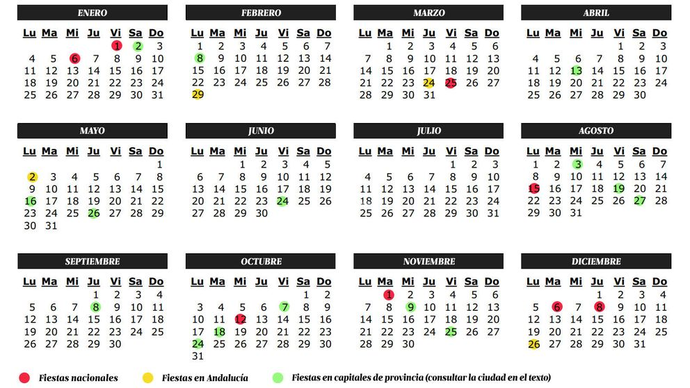 Vacaciones: Calendario de fiestas y laborables 2016 en Galicia: puente ...