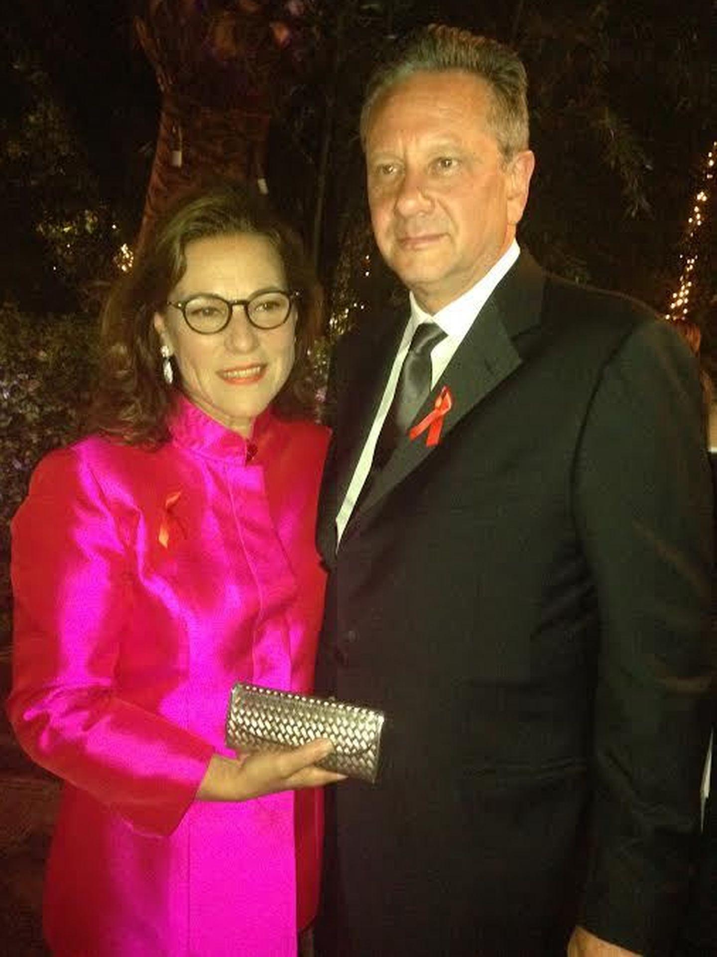 El hijo de Audrey junto a su esposa