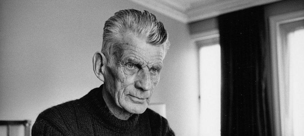 Foto: Samuel Beckett fotografiado en Londres, en 1980.
