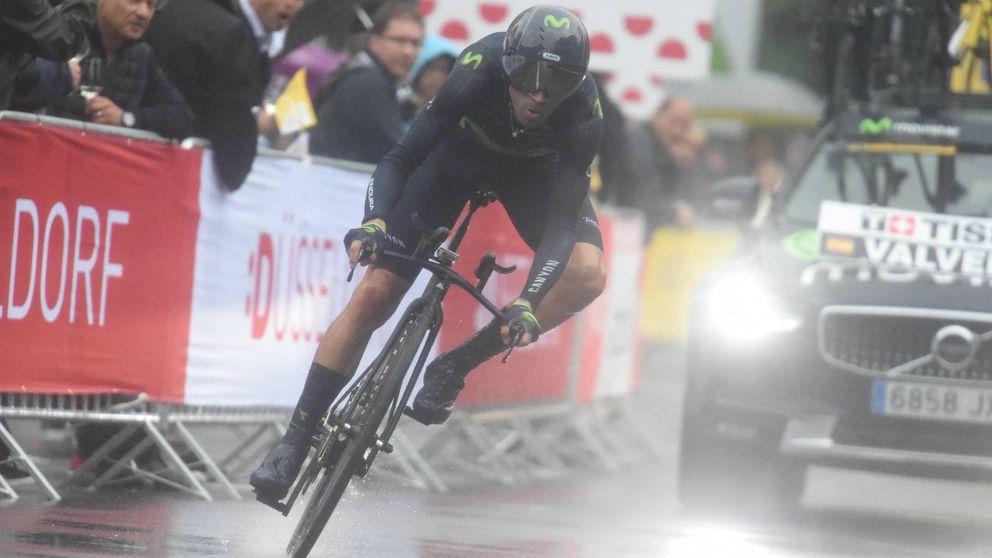 Alejandro Valverde abandona el Tour de Francia tras sufrir una fuerte caída