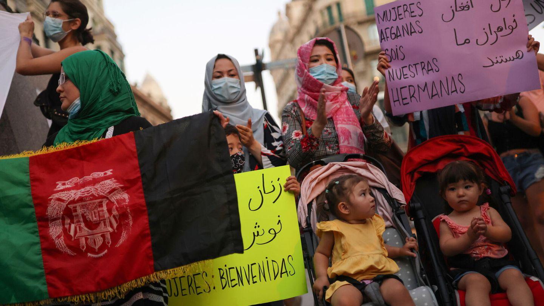 Mujeres, en una manifestación en Afganistán. (Reuters)