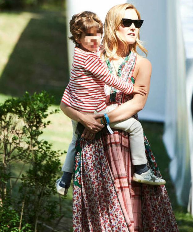 Foto: Marta Ortega con su hijo Amancio. (Limited Pictures)
