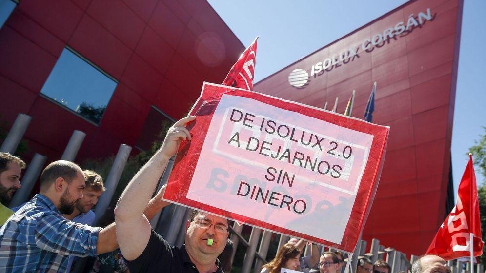 Foto: Protesta de trabajadores de Isolux.