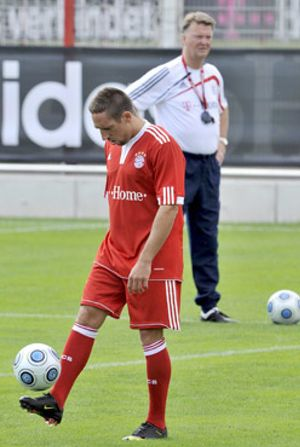 Ribéry reconoce que no hay 'feeling' entre él y Van Gaal, su nuevo entrenador
