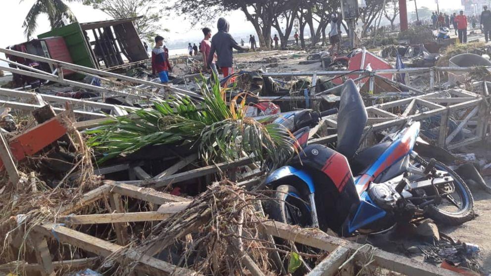 El tsunami y los seísmos de Indonesia, en imágenes