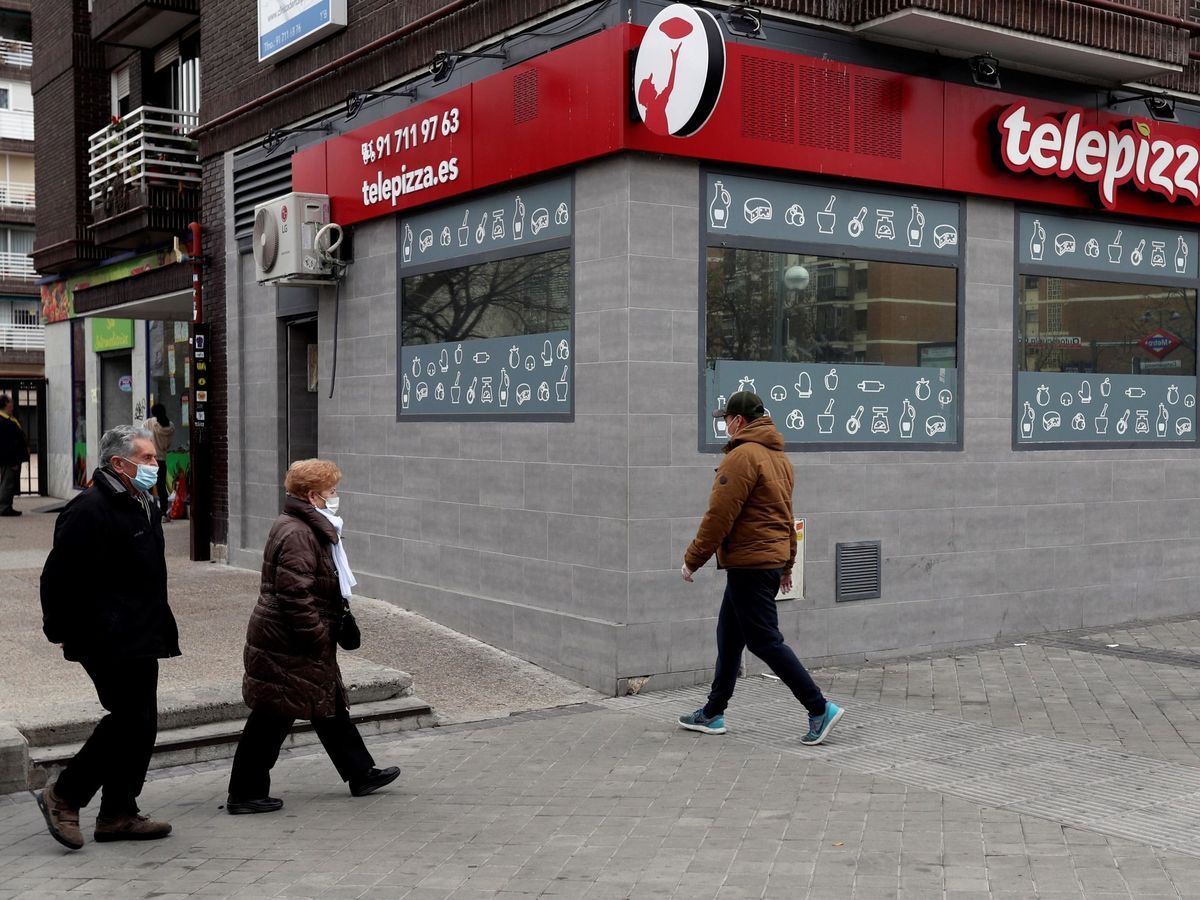 Foto: Un local de Telepizza, en Madrid. (EFE)