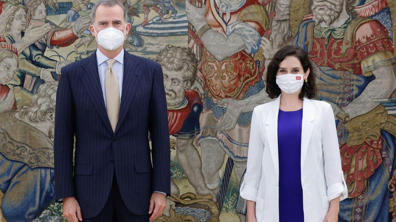 El rey Felipe VI recibe en audiencia a Isabel Díaz Ayuso. (EFE)