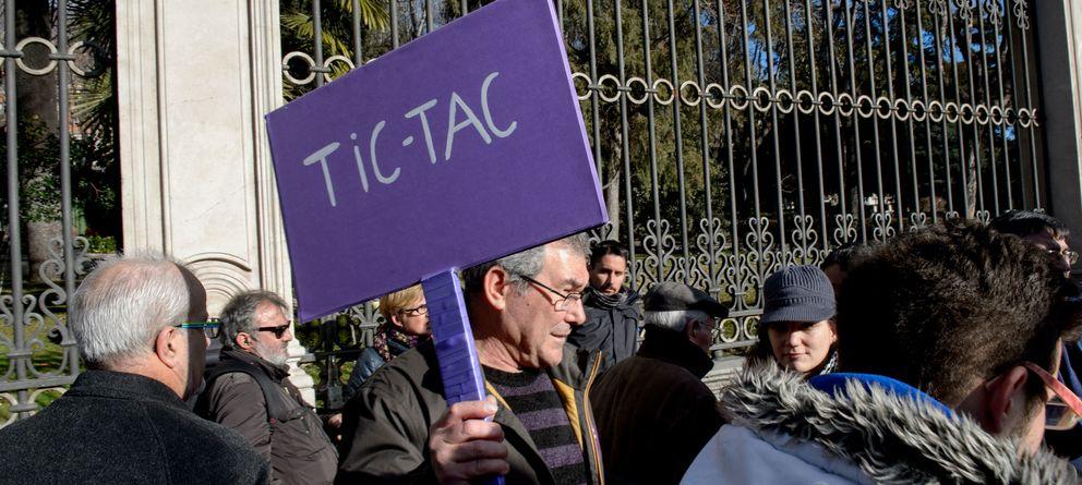 Foto: Manifestantes en la 'Marcha del cambio' del 31 de enero. (Fotografía: Daniel Muñoz)