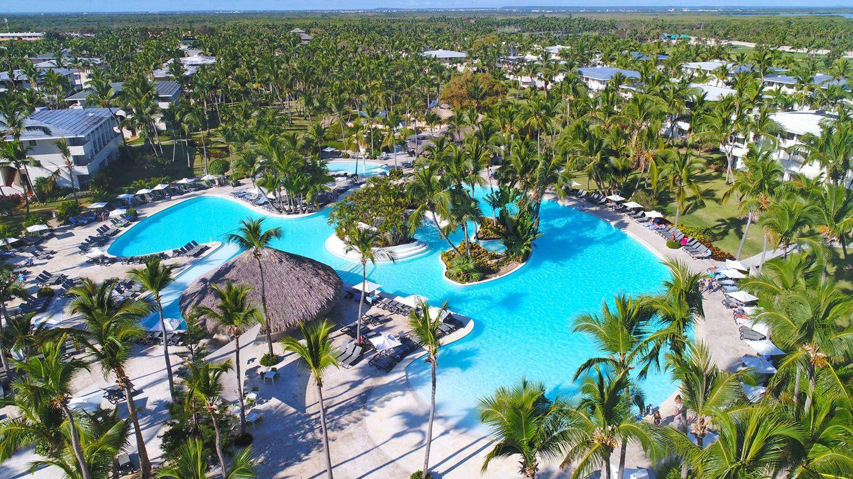 Foto aérea del Catalonia Bávaro Resort de República Dominicana.
