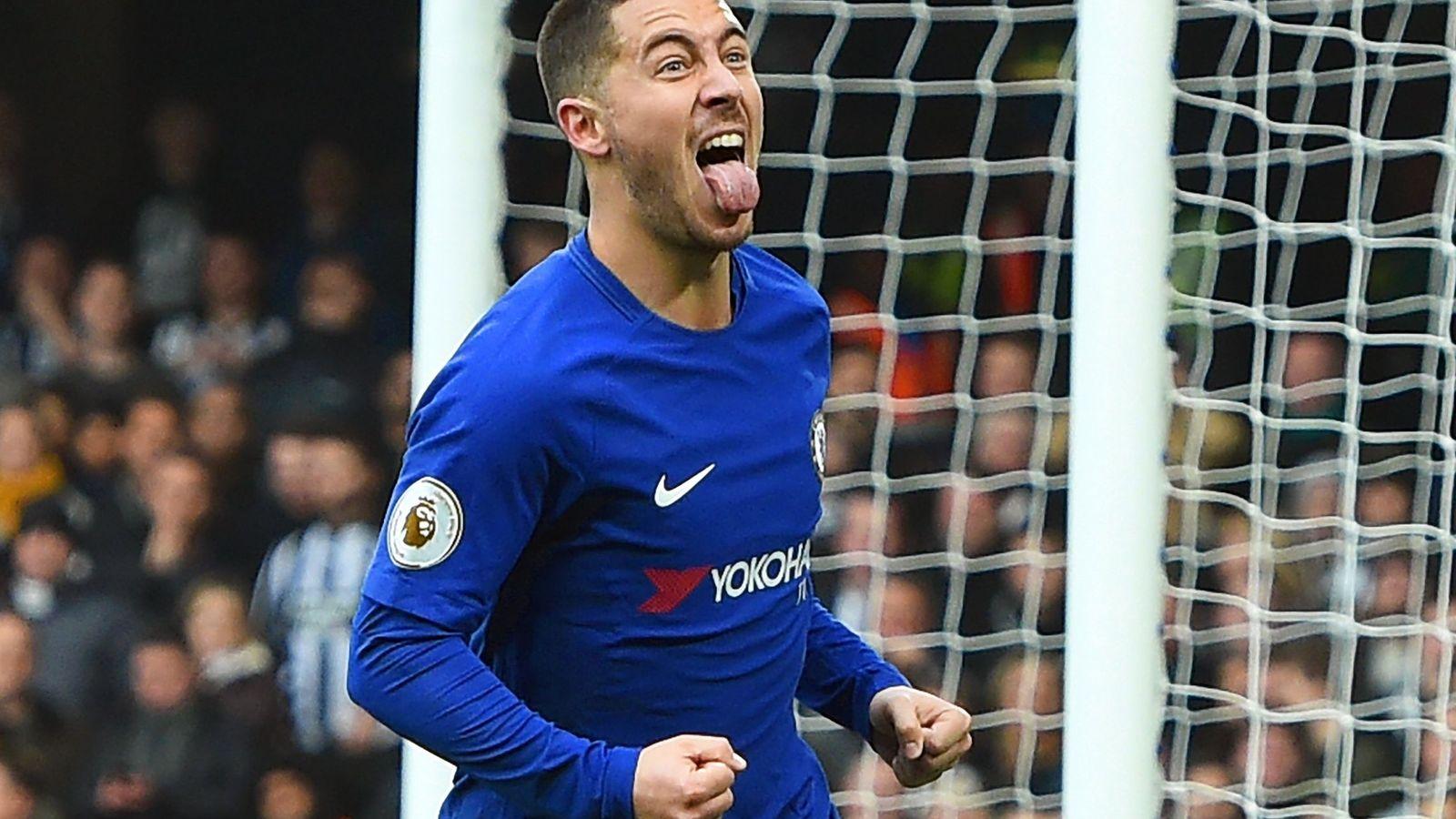 Foto: Hazard celebra un gol marcado con el Chelsea. (EFE)
