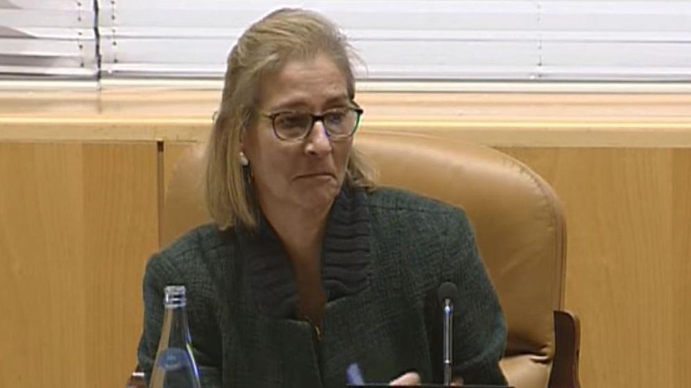Foto: Ana Gomendio, en su comparecencia en la Asamblea de Madrid