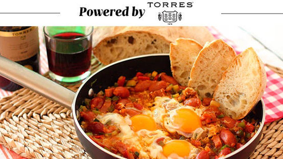 Pisto con jamón, huevo y chorizo: el plato ideal para reponer fuerzas