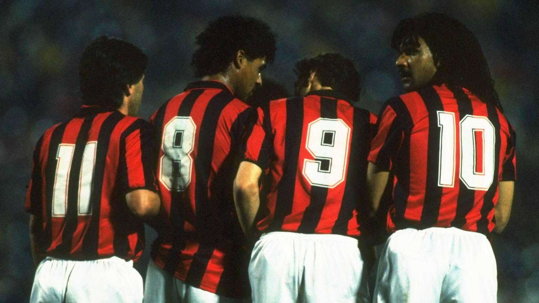 Ancelotti, el 11 del Milan. (Getty)