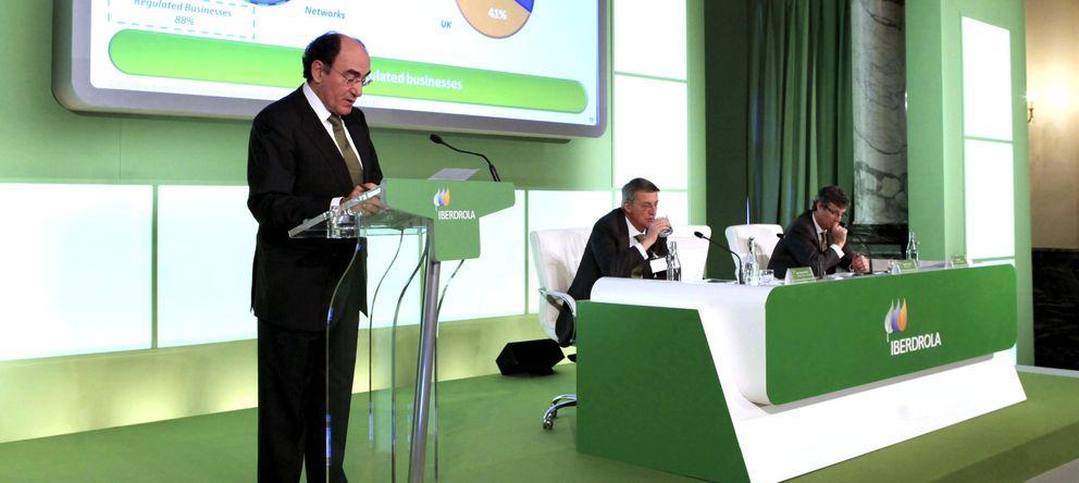 Foto: Ignacio Sánchez Galán, en la presentación de los resultados y plan de inversiones de Iberdrola. (Efe)