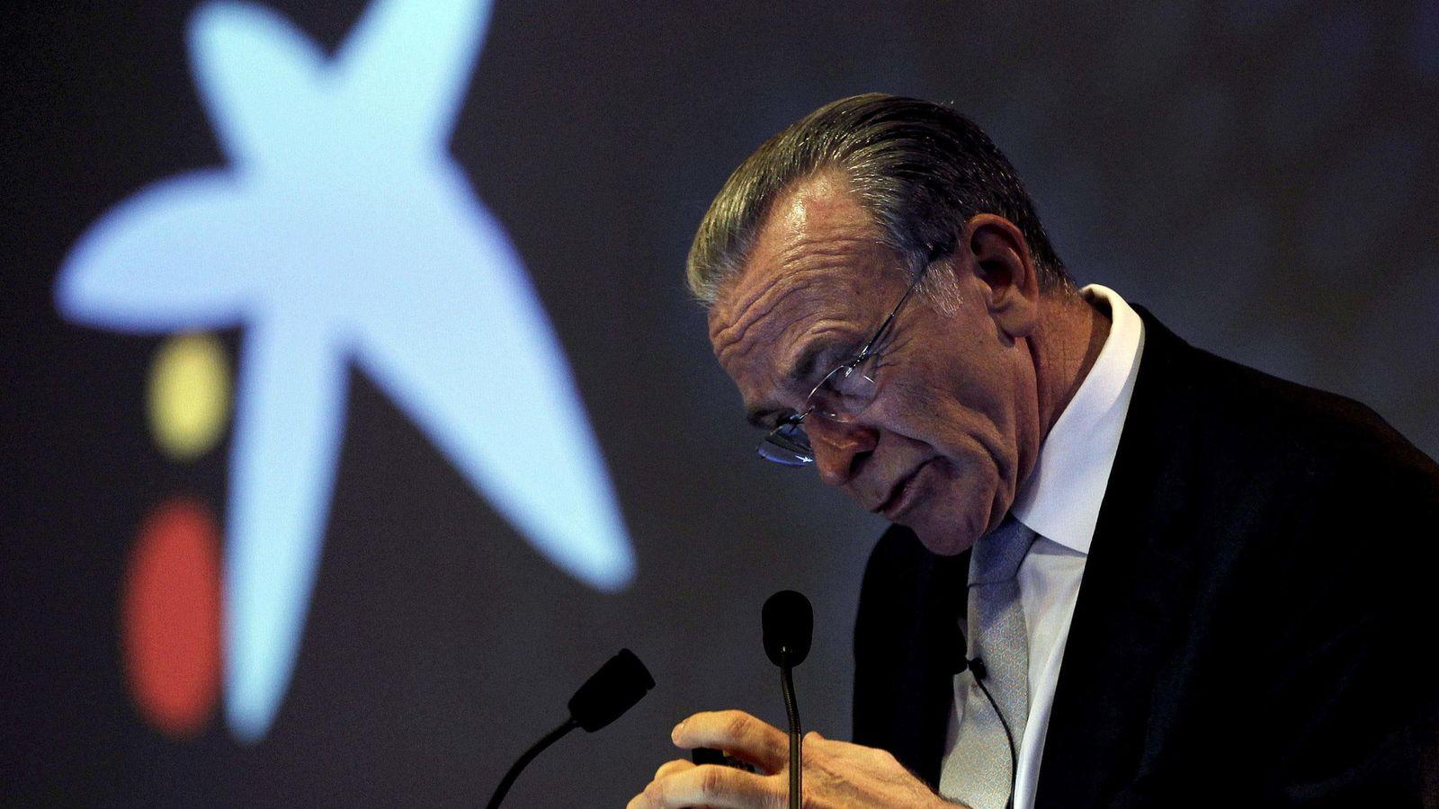Foto: Isidre Fainé, presidente de Caixabank, en la presentación de los resultados de 2014 (Efe)