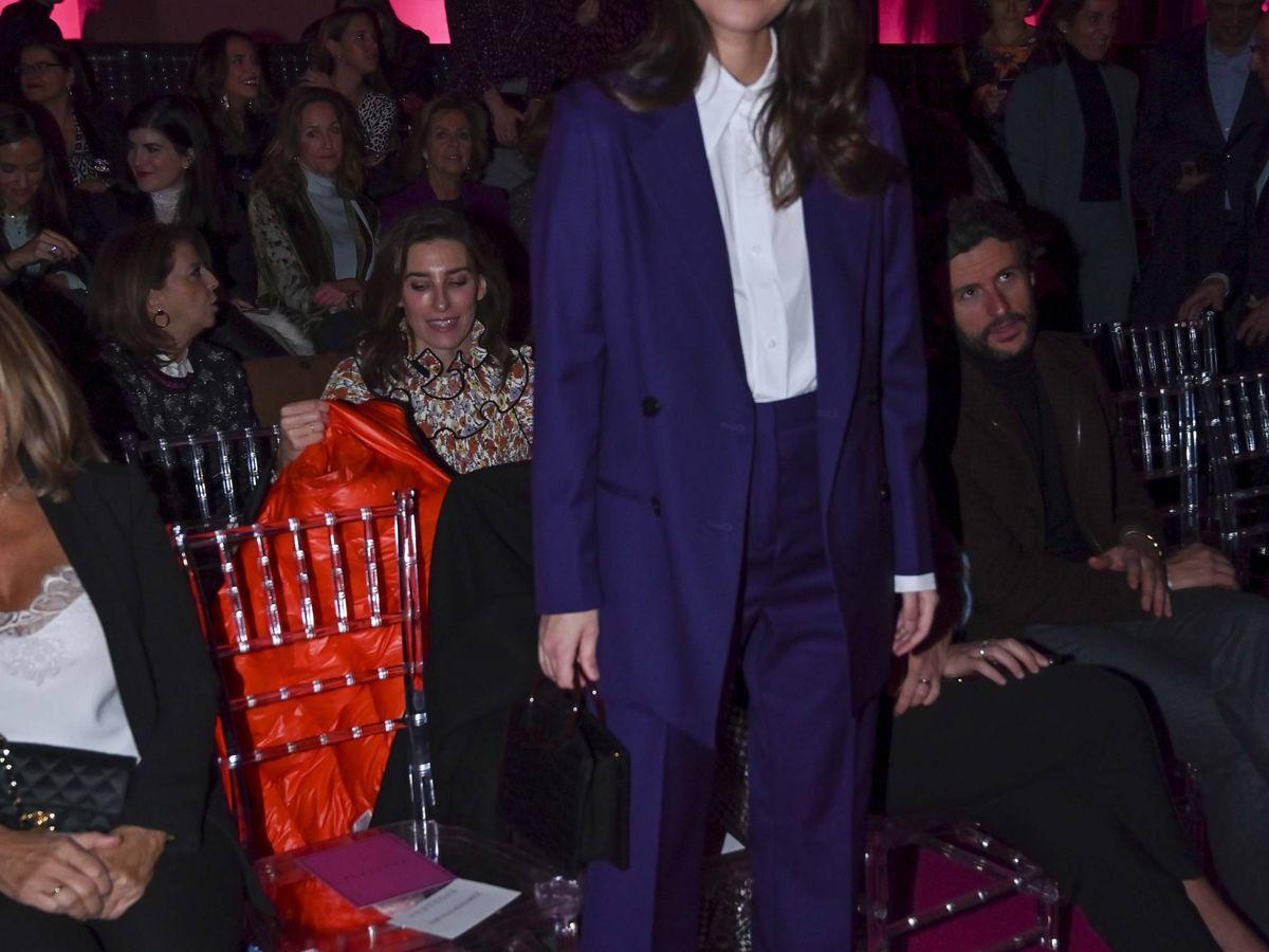 Foto: Sassa de Osma, en uno de sus últimos looks con traje de chaqueta. (Cordon Press)