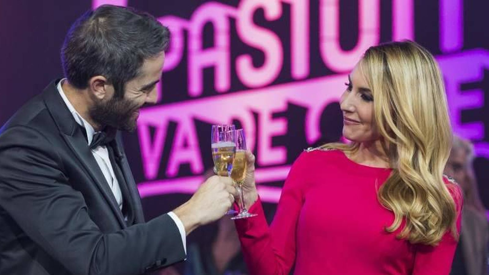 Foto: Roberto Leal y Berta Collado en 'Telepasión' del 2016.