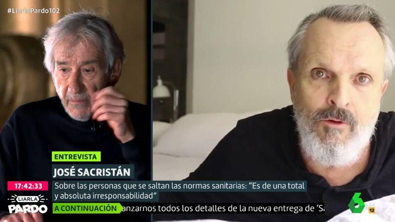 José Sacristán atiza a Miguel Bosé en el programa de Cristina Pardo