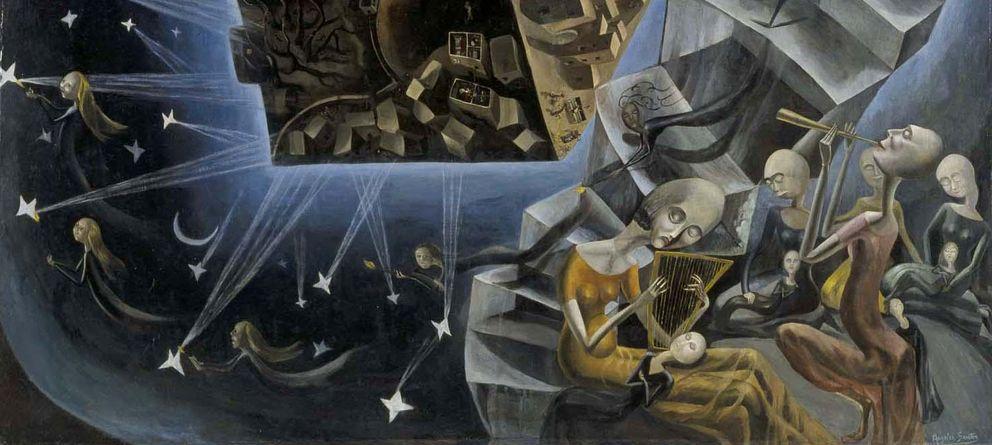Foto: Fragmento de 'Un mundo' (1929), Ángeles Santos, en el Museo Reina Sofía.