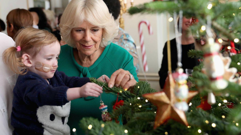 Foto: Camilla coloca los adornos del árbol de Navidad de Clarence House (Gtres)