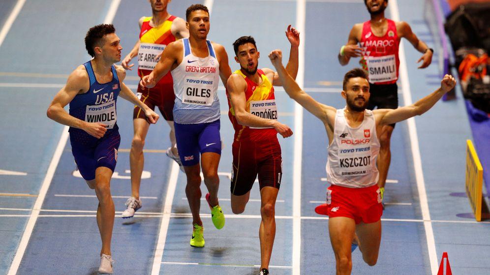 Foto: Ordoñez, entrando tercero en meta. (Reuters)