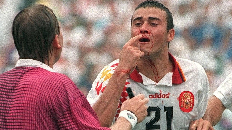 Jorge Otero vivió en directo el famoso codazo de Mauro Tassotti a Luis Enrique en el Mundial del 94. (EFE)