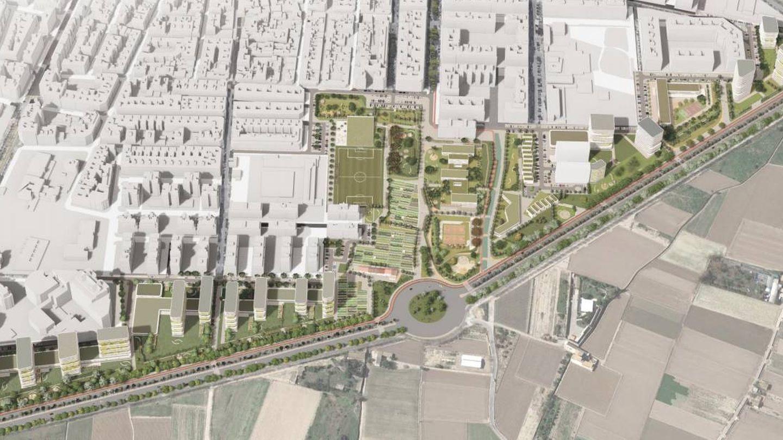 El proyecto de urbanización del sector del PAI de Benimaclet propuesto por Metrovacesa.