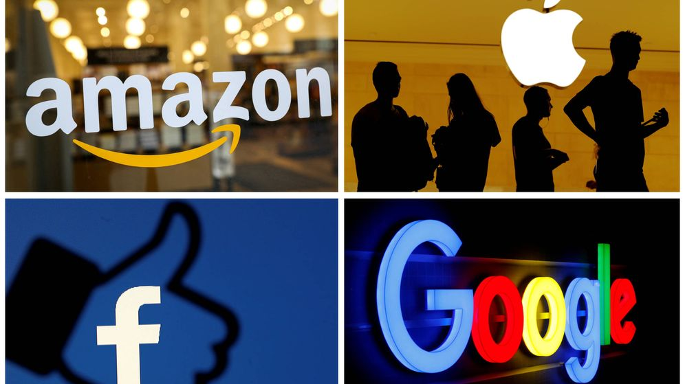 Foto: Logos de Amazon, Apple, Facebook y Google. (Reuters)