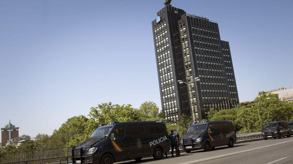 Foto: Alrededores de la embajada de Estados Unidos en Madrid. (EFE)