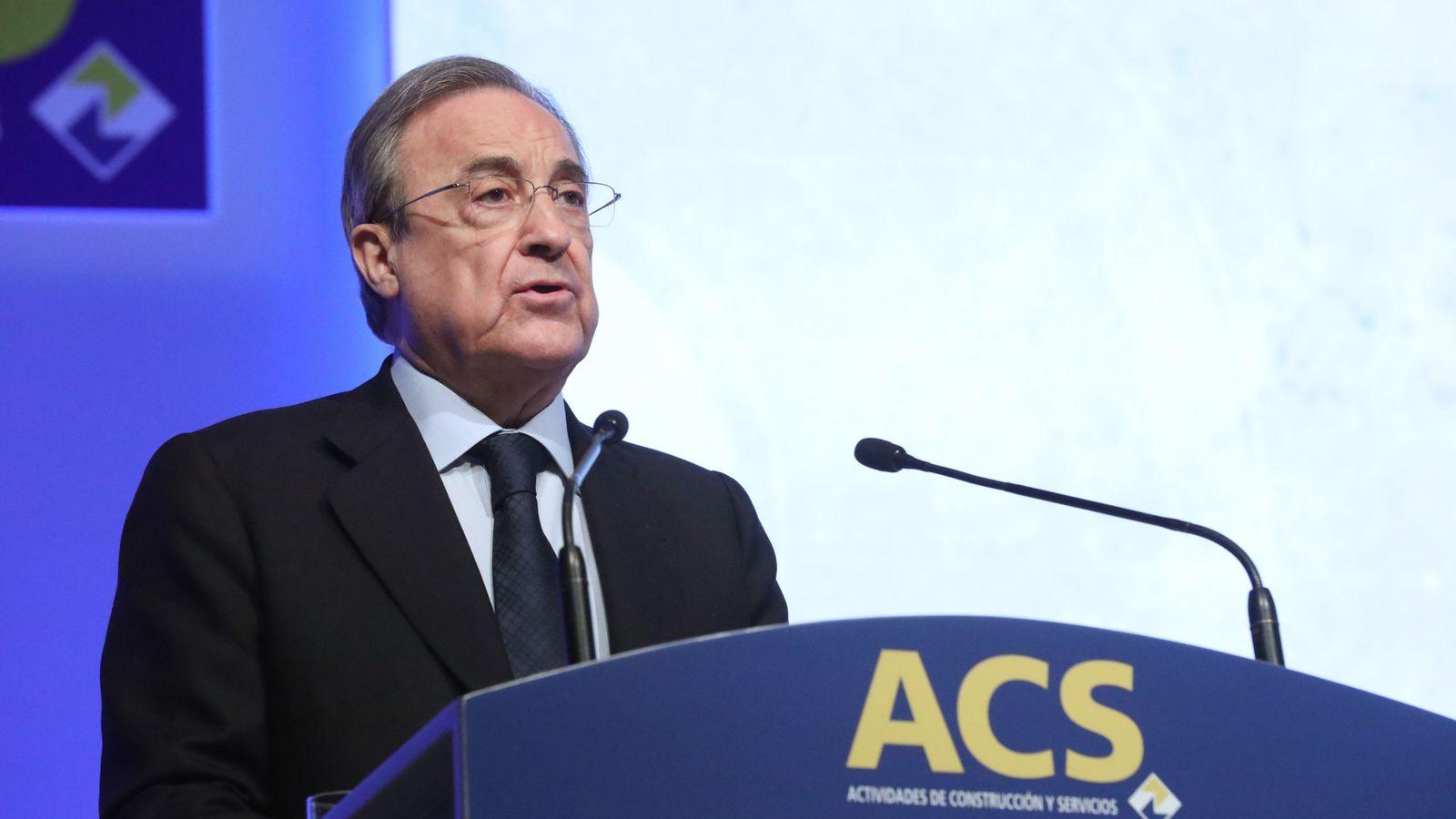 Foto: El presidente de ACS, Florentino Pérez (EFE)