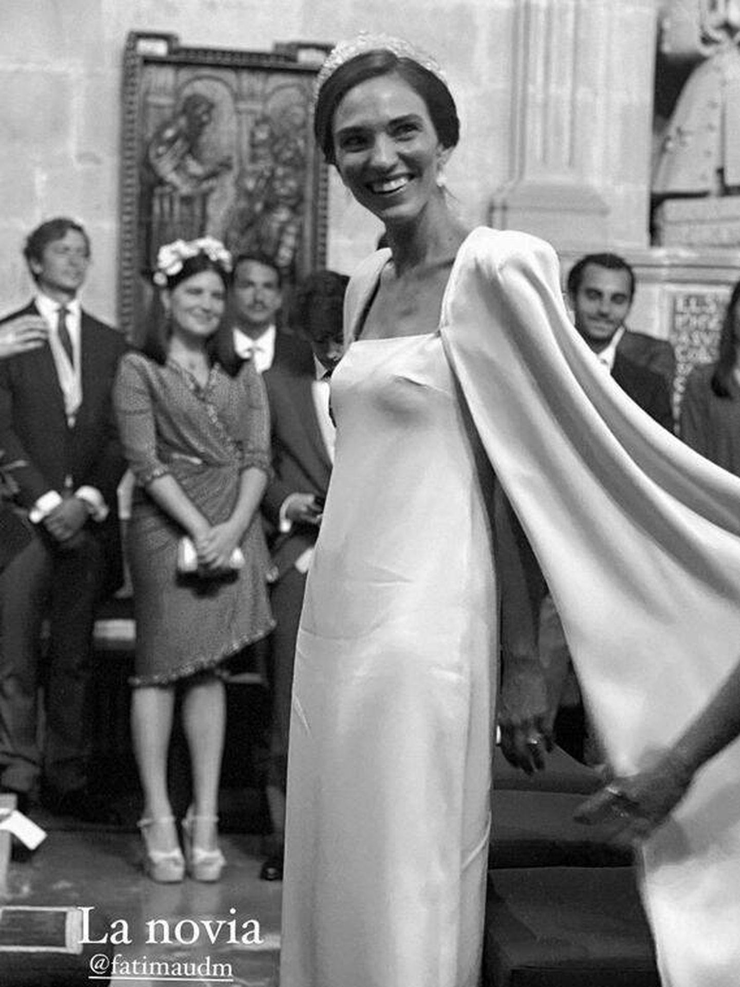 Fátima, nuera de Cristina Yanes, el día de su boda. (@luciapombo)
