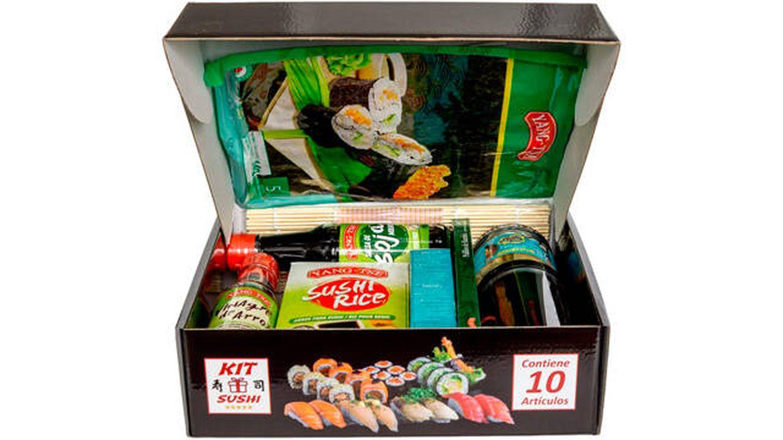 Kit de ingredientes para sushi.