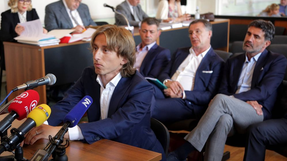 Foto: Modric, durante su declaración. (AFP)