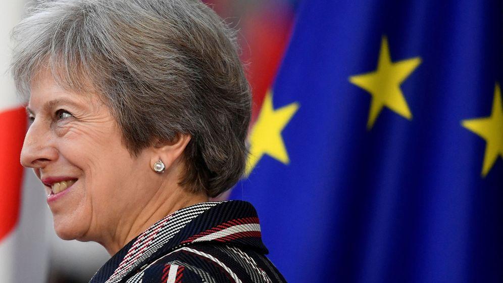 Foto: Theresa May, en la última cumbre en la que coincidió con sus socios de la UE. (Reuters)