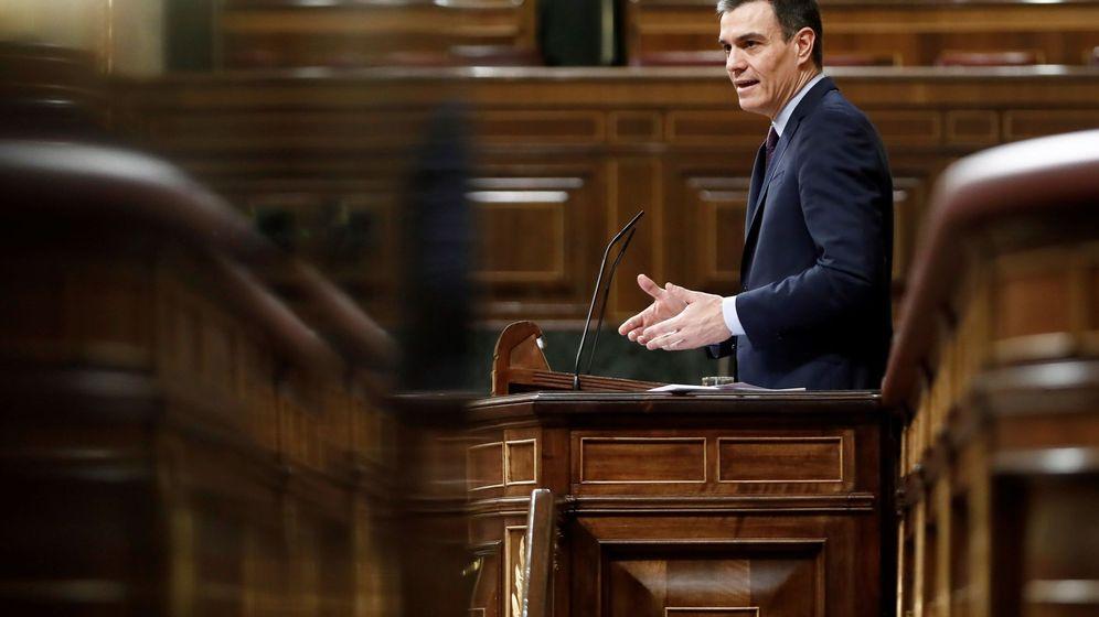 Foto: El presidente del Gobierno, Pedro Sánchez, durante el pleno extraordinario celebrado este miércoles. (EFE)
