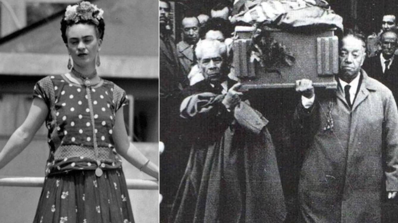 Una bandera comunista, un expresidente y Rivera: así fue el funeral de Frida Kahlo