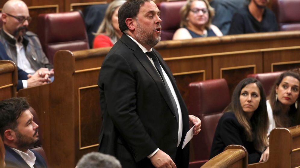 Foto: Junqueras, durante la sesión constitutiva de las Cortes. (EFE)