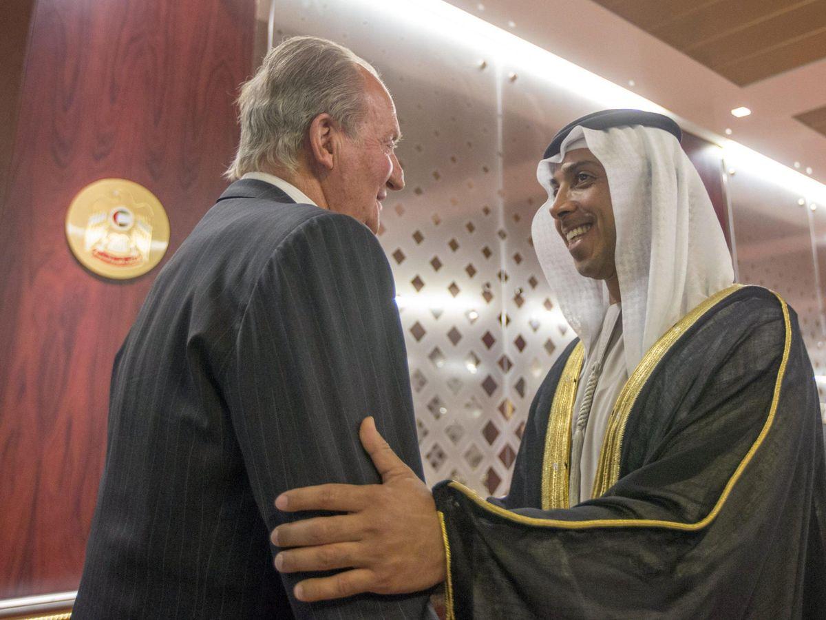 Foto: Una foto de archivo del rey emérito Juan Carlos en Abu Dabi. (EFE)