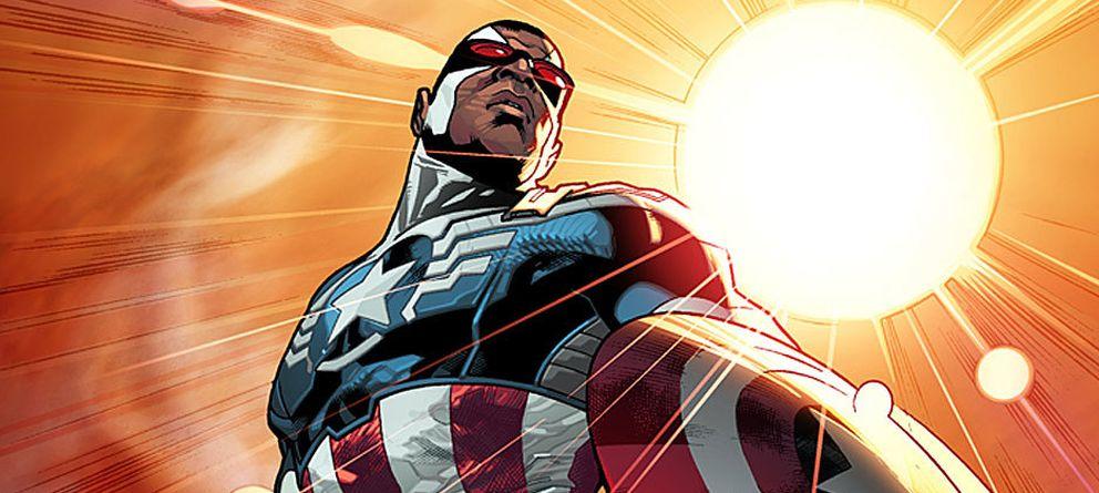 Foto: Sam Wilson como el nuevo Capitán América (Marvel)