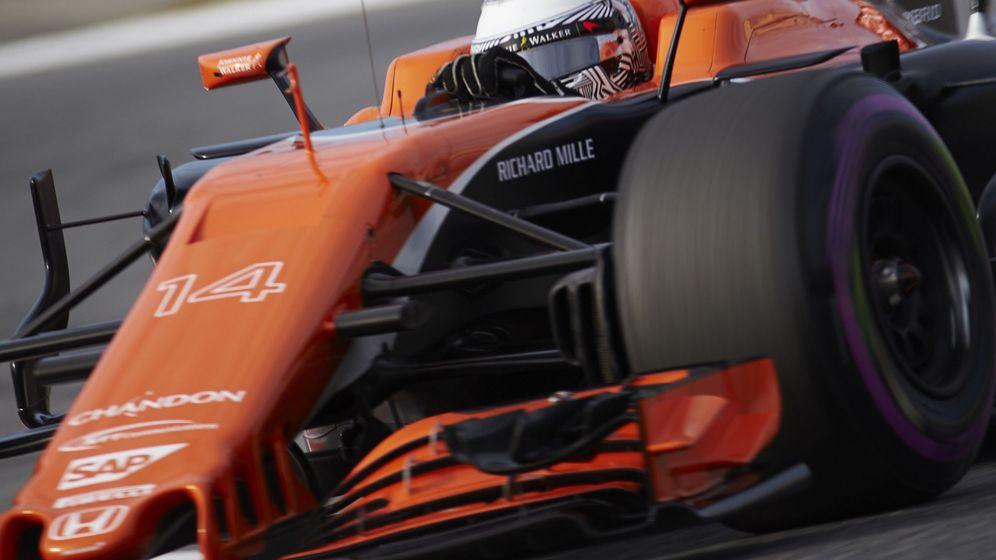 Foto: Fernando Alonso durante estos test  invernales en Montmeló.