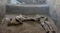Hallan en Pompeya los restos de un hombre y su esclavo muertos por el Vesubio