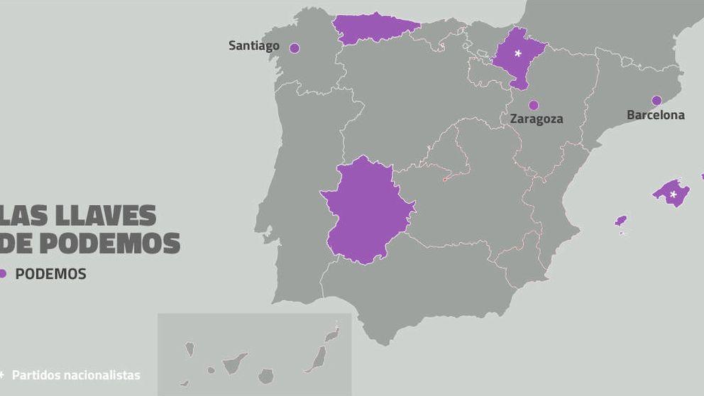 Podemos, aliado necesario del PSOE en Asturias, Extremadura y Baleares