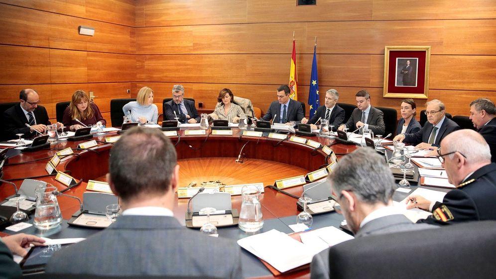 Foto: Reunión de este sábado del Comité de seguimiento de la situación en Cataluña. (EFE)