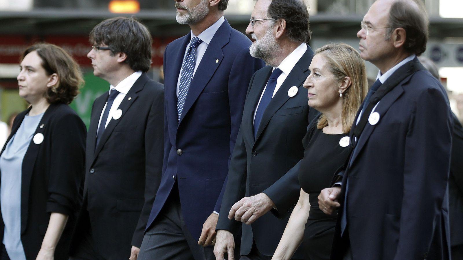 Foto: Manifestación contra el terrorismo el pasado 26 de agosto, días después de los atentados de Barcelona y Cambrils. (EFE)
