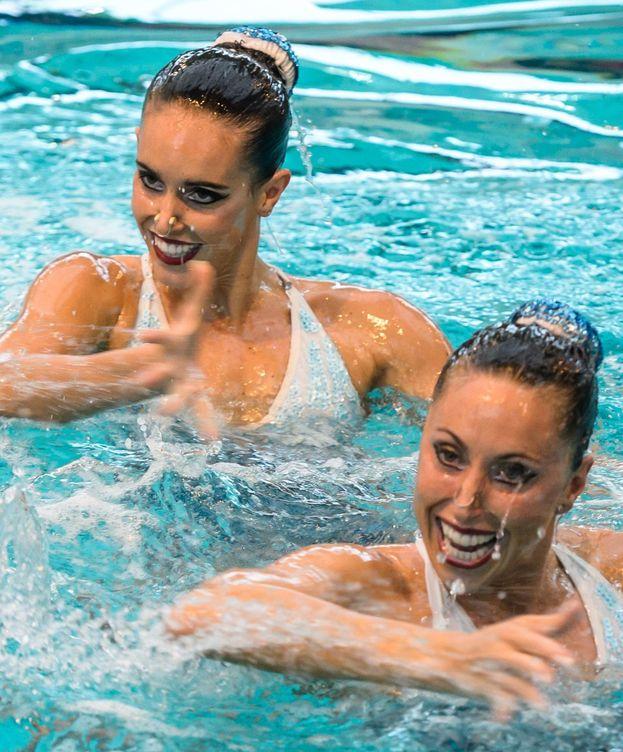 Foto: Ona y Gemma en la piscina francesa el pasado fin de semana.