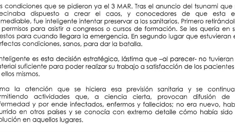 Extracto del informe del forense.