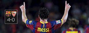 El Barça golea al Sevilla y se lleva la Supercopa