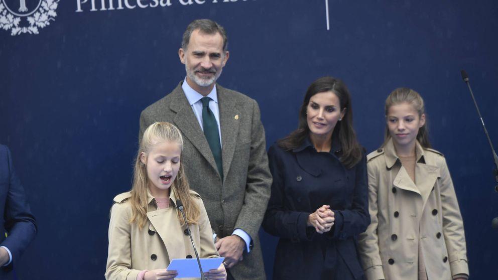 Segundo discurso de Leonor: más tranquila y reiterando su amor por Asturias