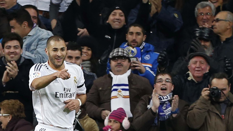 Benzema celebra su gol (Efe).