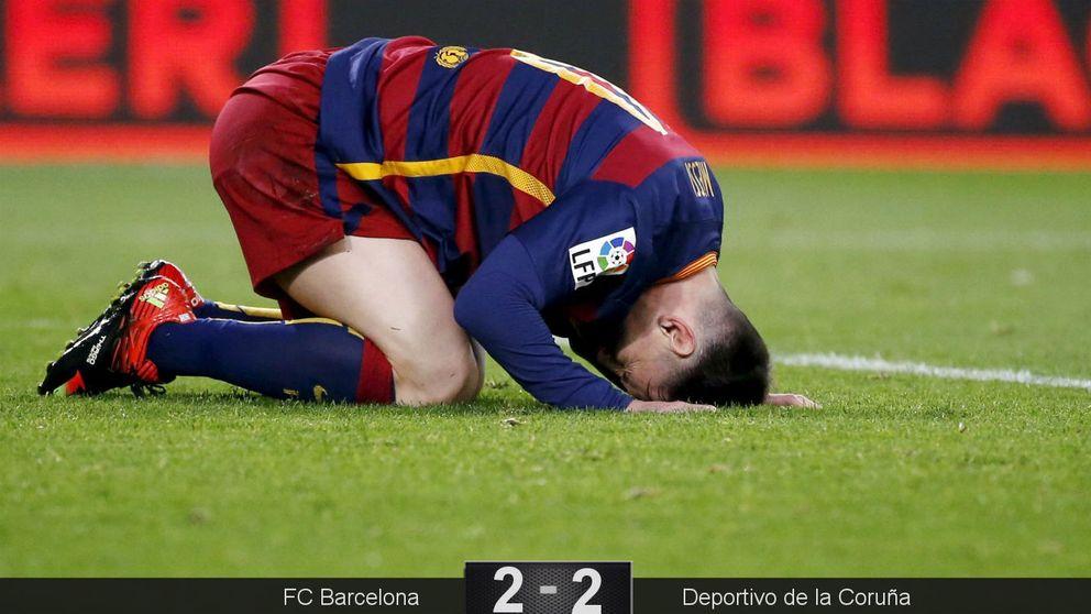 Señores, hay Liga: el Barça regala dos puntos ante un Depor que pudo ganar